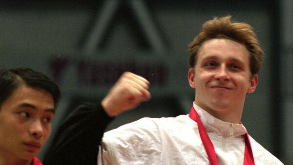 Виталий Щербо - золотой призер чемпионата по гимнастике в Японии, 1995 год - Sputnik Беларусь