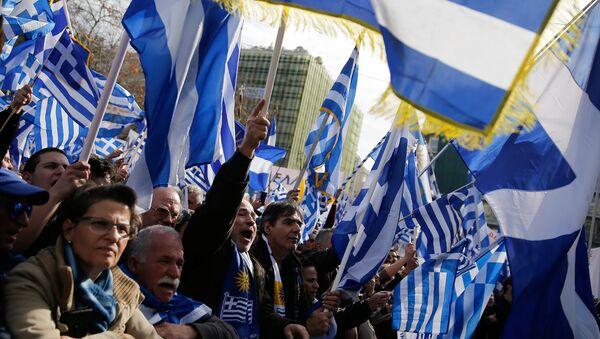 Митинг в Афинах за переименование Македонии - Sputnik Беларусь