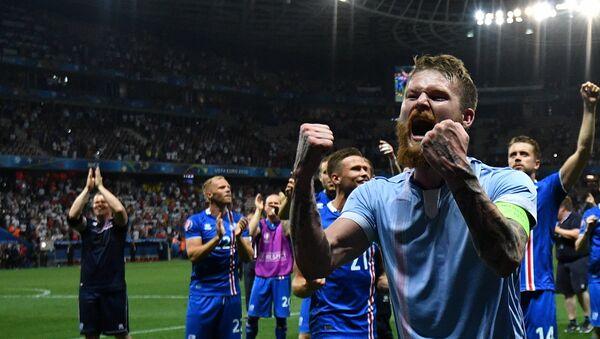 Игрок сборной Исландии Арон Эйнар Гуннарссон, архивное фото - Sputnik Беларусь