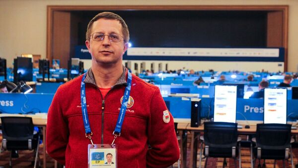 Прэс-сакратар Міністэрства спорту і турызму Уладзімір Несцяровіч - Sputnik Беларусь