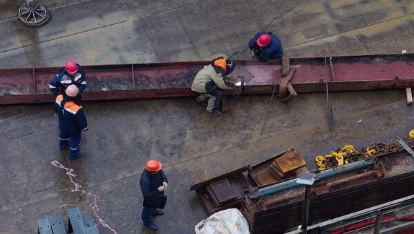 Строительство, архивное фото - Sputnik Беларусь