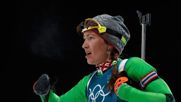 Трехратная олимпийская чемпионка Дарья Домрачева - Sputnik Беларусь