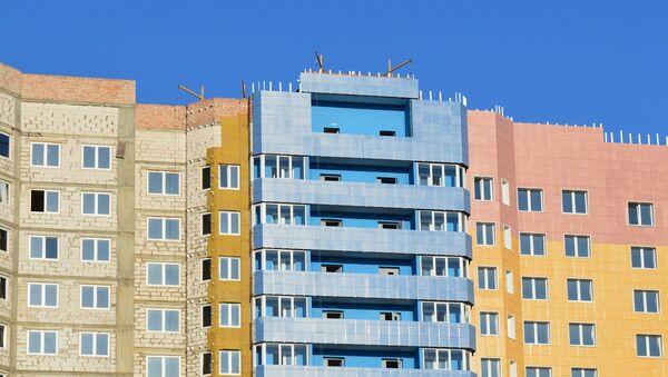Строительство дома, архивное фото - Sputnik Беларусь