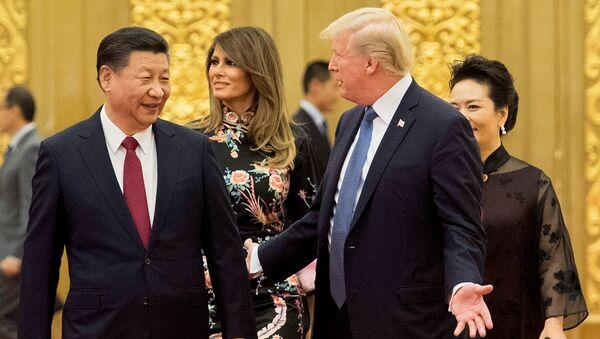 Визит Дональда Трампа в Китай в 2017 году - Sputnik Беларусь