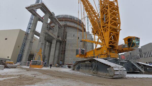На строительстве БелАЭС, 21 февраля 2018 года - Sputnik Беларусь