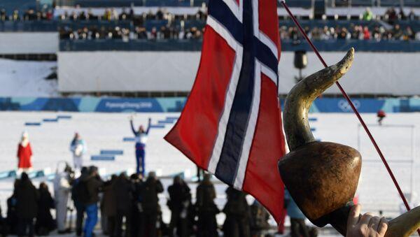 Флаг Норвегии на Олимпийских играх - Sputnik Беларусь