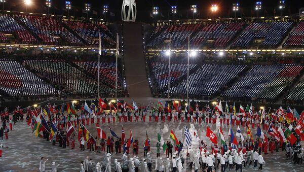 Парад спартсменаў на цырымоніі закрыцця Алімпіяды - Sputnik Беларусь
