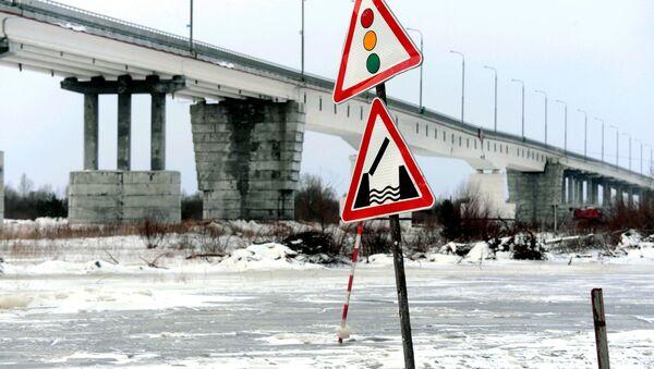 Аварийный мост через Припять - Sputnik Беларусь