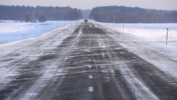 Заснеженная дорога - Sputnik Беларусь