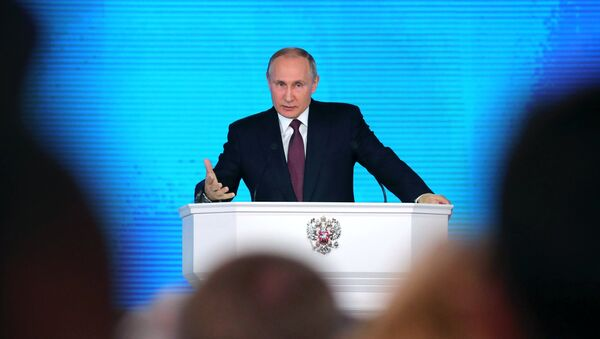 Владимир Путин выступил с посланием Федеральному собранию - Sputnik Беларусь
