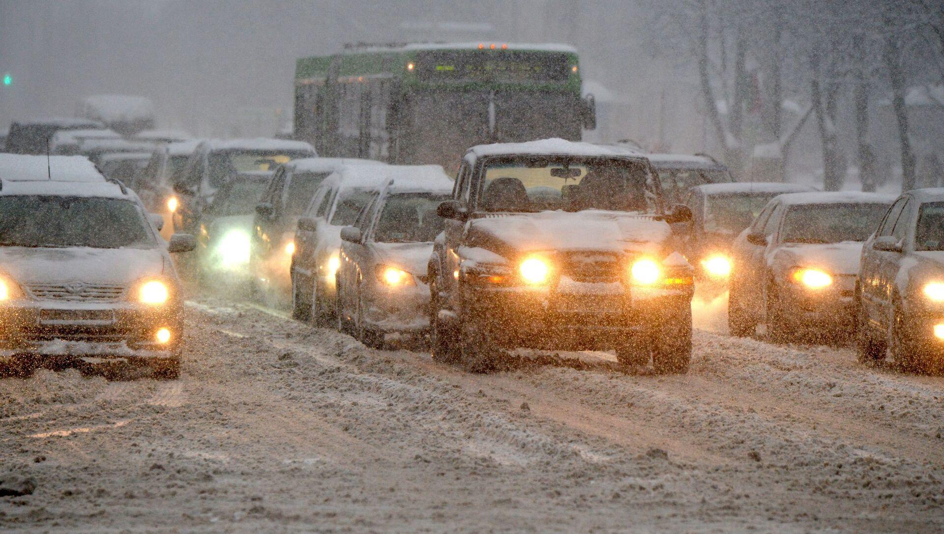 Снегопад в Минске - Sputnik Беларусь, 1920, 08.02.2021