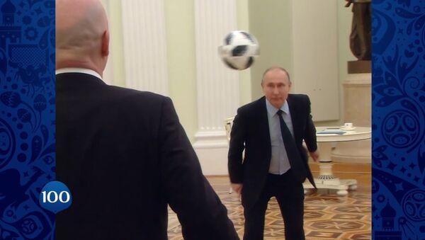 Путин и Инфантино сыграли в футбол - Sputnik Беларусь