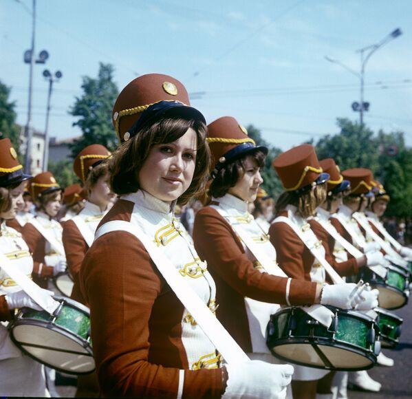 Барабанщицы, Минск, 1979 год. - Sputnik Беларусь