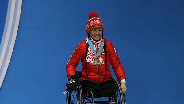 Белоруска Лидия Графеева в спринте на 6 км в категории LW12 добыла бронзу - Sputnik Беларусь