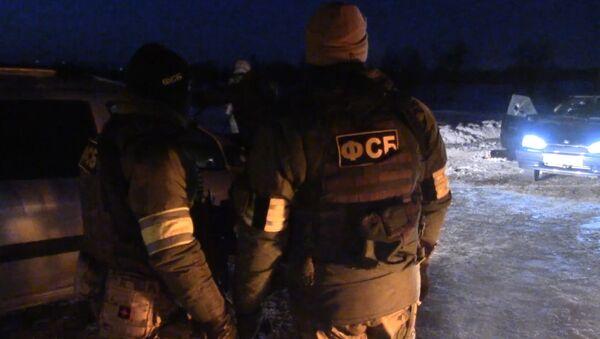 Оперативные кадры ФСБ с места перестрелки с готовившими теракт преступниками - Sputnik Беларусь