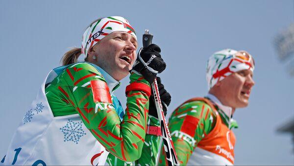 Белорусская лыжница Светлана Сахоненко на Паралимпиаде-2018 - Sputnik Беларусь