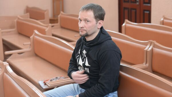 Подполковник Дмитрий Киселарь в зале суда - Sputnik Беларусь