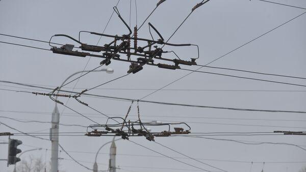 Контактная сеть для троллейбусов, архивное фото - Sputnik Беларусь