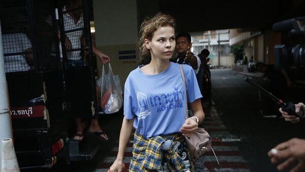 Арестованная в Таиланде Настя Рыбка - Sputnik Беларусь