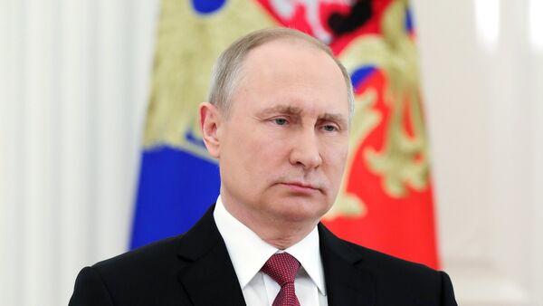 Президент РФ В. Путин выступил с обращением к гражданам России - Sputnik Беларусь