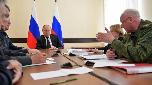 Прэзідэнт Расіі правёў у Кемерава аператыўную нараду - Sputnik Беларусь