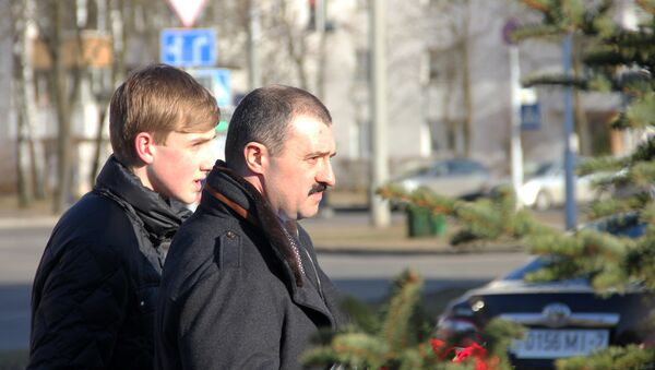 Сыновья президента Александра Лукашенко Виктор и Николай - Sputnik Беларусь