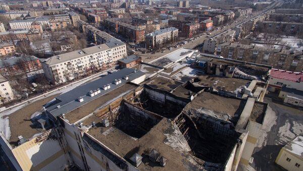 Сгоревшие кинозалы в торгово-развлекательном центре «Зимняя вишня» в Кемерово, архивное фото - Sputnik Беларусь