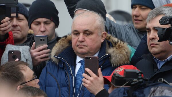 Врио губернатора Кемеровской области Сергей Цивилев (в центре) - Sputnik Беларусь
