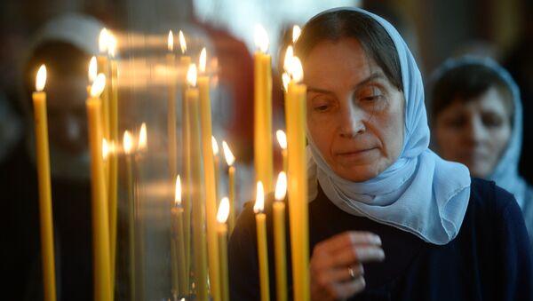 Верніца падчас набажэнства ў свята Благавешчання - Sputnik Беларусь