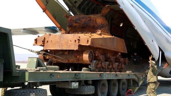 Танк Шэрман, падняты з затопленага сухагруза, прыедзе на парад 9 мая - Sputnik Беларусь