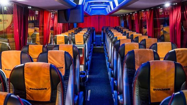 Салон автобуса Ecolines  - Sputnik Беларусь