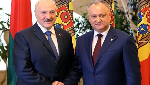 Прэзідэнт Рэспублікі Беларусь Аляксандр Лукашэнка (злева) і прэзідэнт Малдовы Ігар Дадон - Sputnik Беларусь
