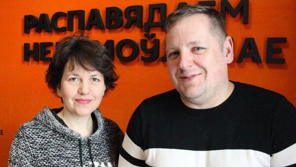 Режиссер Александра Бутор и актер и музыкант Павел Тараймович - Sputnik Беларусь