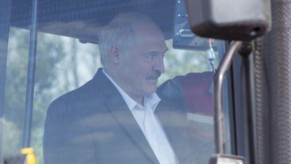Аляксандр Лукашэнка ў кабіне трактара - Sputnik Беларусь