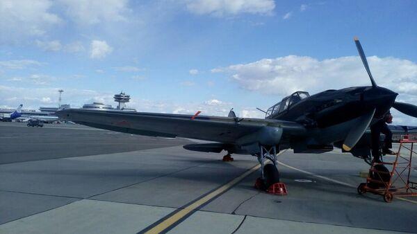 Штурмовик Ил-2 в Национальном аэропорту Минск - Sputnik Беларусь