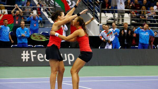 Белорусские теннисистки Лидия Морозова и Вера Лапко - Sputnik Беларусь