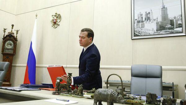 Расійскі прэм'ер Дзмітрый Мядзведзеў, архіўнае фота - Sputnik Беларусь
