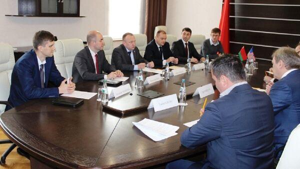 Прием официальной делегации American Express в СК Беларуси - Sputnik Беларусь