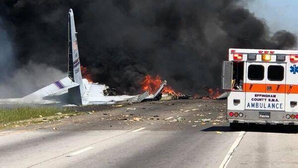 Место авиакатастрофы - Sputnik Беларусь