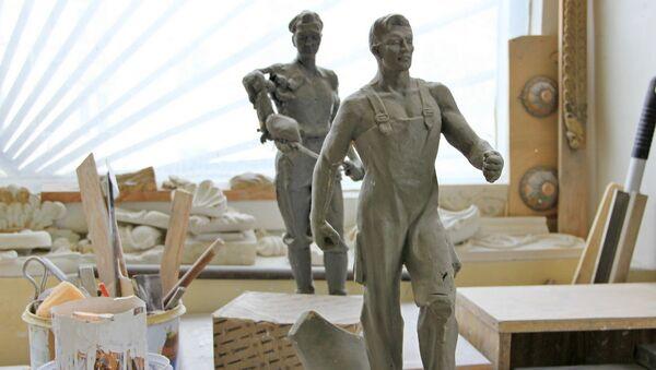 Макеты для скульптур, якія зараз знаходзяцца ў беларускім павільёне ВДНХ - Sputnik Беларусь
