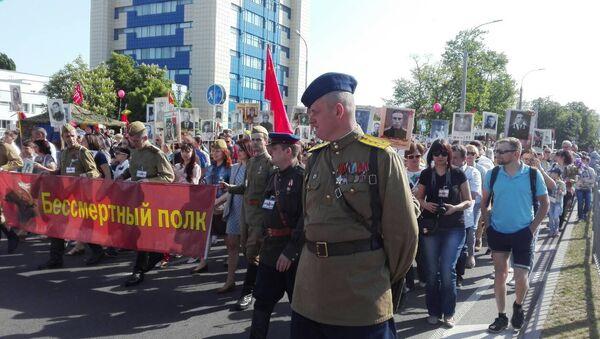 Акцыя Бессмяротны полк у Брэсце - Sputnik Беларусь