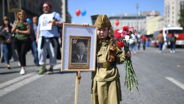 Акцыя Бессмяротны полк у Маскве - Sputnik Беларусь