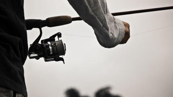 Рыболов с удочкой, архивное фото - Sputnik Беларусь