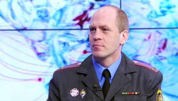 Официальный представитель внутренних войск МВД Республики Беларусь, подполковник Владимир Порхомцев - Sputnik Беларусь