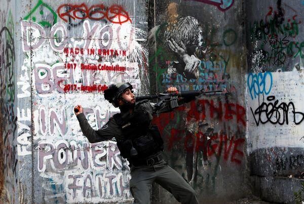 Израильский сотрудник пограничной полиции - Sputnik Беларусь
