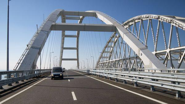 Начало автомобильного движения по Крымскому мосту - Sputnik Беларусь