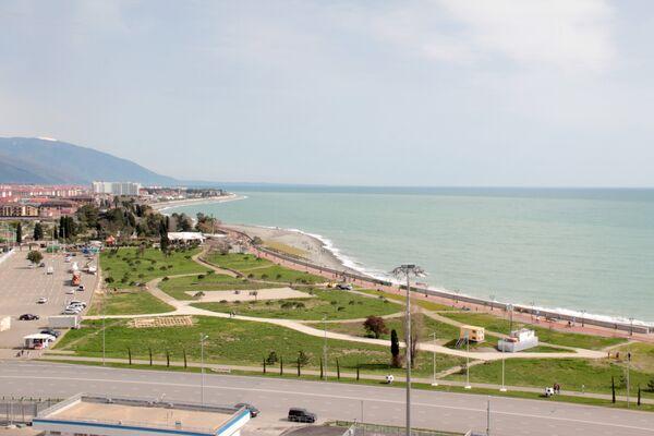 Вид на набережную с верхних трибун стадиона Фишт - Sputnik Беларусь