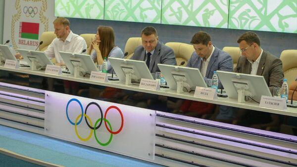 Прэс-канферэнцыя, прысвечаная Міжнароднаму алімпійскаму дню ў НАК - Sputnik Беларусь