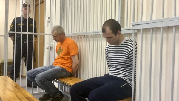Александр Жильников и Вячеслав Сухарко - Sputnik Беларусь