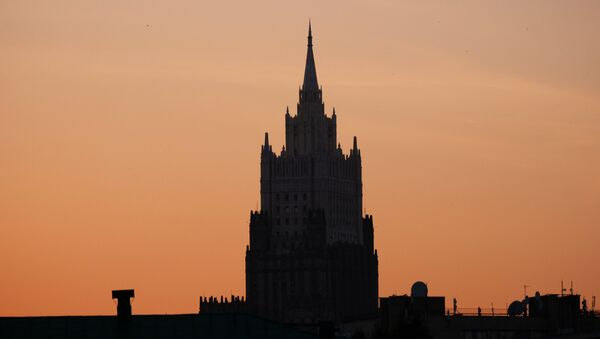Высотное здание министерства иностранных дел РФ - Sputnik Беларусь
